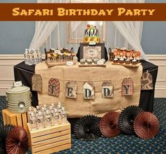 This brown and khaki safari party will take your guests on an adventure.