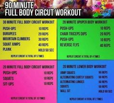 90 Minute Circuit Full Body Workout