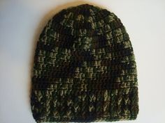 Crochet Camouflage/Hunter Slouch Hat/Beanie for by SuperCrochetMom