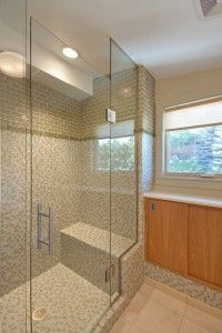 Shower Glass Tile Ideas Modern Bathroom Lakeview Il