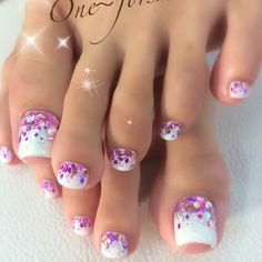 Semi-permanent varnish, false nails, patches: which manicure to choose? - My Nails Toenail Art Designs, Pedicure Designs, Pedicure Ideas, Pretty Toe Nails, Cute Toe Nails, Glitter Toe Nails, Toe Nail Color, Toe Nail Art, Pink Nails