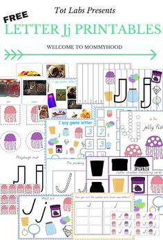Letter Jj Printables (free; from Welcome to Mommyhood)
