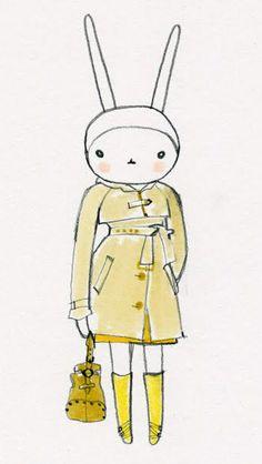 Fifi Lapin wears Mullberry