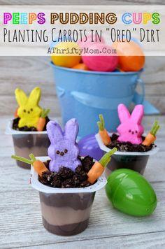 Peeps Pudding Cups http://www.allkindsofthingsblog.com/2015/03/peeps-treats-for-easter.html