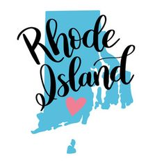 Each element of my hand-lettered and illustrated state art designs are separate so you can change the sizes of the heart and state names as you please! City State, State Art, Dawn Nicole, State Image, Scrapbook Borders, New Board, Silhouette Design, Rhode Island, Back Home