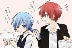 Karma & Nagisa from Ansatsu Kyoushitsu/Assassination Classroom