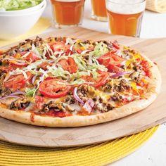 Pizza cheeseburger - Soupers de semaine - Recettes 5-15 - Recettes express 5/15 - Pratico Pratiques