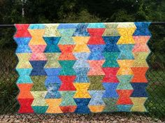 Dovetail quilt inspired by Fiesta bowls in cabinet - Terry Atkinson