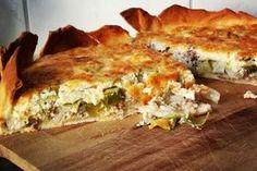 Gezond, makkelijk en lekker recept voor hartige taart met prei en gehakt. Gemaakt met bladerdeeg