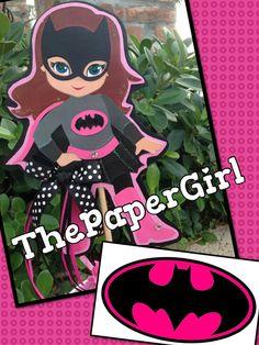 Handmade Bat Girl Doll Centerpiece Decoration by ThePaperGirlbyANM