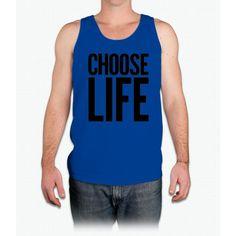 Choose Life Wham Vintage Retro 80s Funny T-Shirt - Mens Tank Top