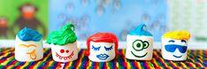 com pintar núvols de sucre amb cares - totnens Sugar, Cookies, Mini, Desserts, Food, Kids Part, Biscuits, Meal, Deserts