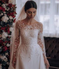 Pretty Prom Dresses, Modest Wedding Dresses, Elegant Wedding Dress, Bridal Dresses, Wedding Bride, Wedding Gowns, Bridal Hijab, Weeding Dress, Fairytale Weddings