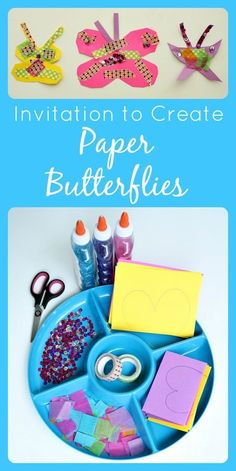Invitation to Create Paper Butterflies...spring craft for kids