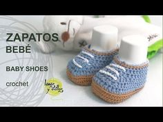 Tutorial Zapatillas o Sneakers de Bebé Crochet o Ganchillo en Español - YouTube