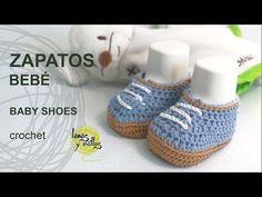 ▶ Tutorial Zapatos Bebé Crochet o Ganchillo - YouTube