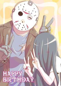 Jason y samara Horror Icons, Horror Films, Arte Horror, Horror Art, Halloween Horror, Halloween Art, Creepypasta, Anime Galaxy, Horror Themes