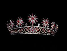 Ruby Starburst Tiara; Worn At: 2015 Italian National Day Banquet --- 2015 Oldenburg Coronation Ceremony