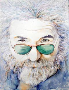 JERRY GARCIA-Art Print of Original Watercolor Painting-Rock Music-Grateful Dead. $35.00, via Etsy. Yes!