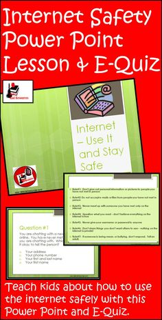 Learning how to navigate the web safely is important for students of all ages. This PowerPoint presentation includes links to Computer Teacher, Computer Lessons, Computer Class, Computer Science, Computer Tips, Internet Safety Rules, Internet Safety For Kids, Safety Week, Kids Safety