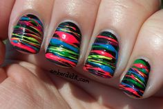 Neon Spun Sugar Nails. #amberdidit