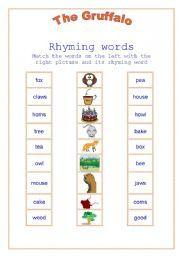 English teaching worksheets: The Gruffalo Gruffalo Eyfs, Gruffalo Activities, The Gruffalo, Language Activities, English Lessons For Kids, Esl Lessons, Descriptive Words, Rhyming Words, Reading