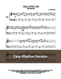 Story of My Life - One Direction. This version features easier left-hand rhythm and fewer notes for our younger braggers. MORE: www.PianoBragSongs.com.