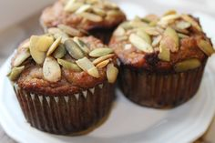 The Almond Flower: Banana Muffins (No Added Fat & Dairy Free!)