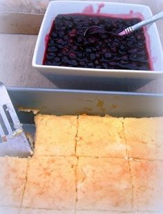Barefoot Contessa's Baked Blintzes with Blueberry Sauce