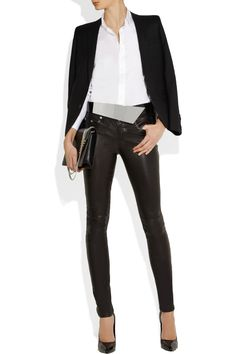 Saint Laurent | Metal and leather waist belt | NET-A-PORTER.COM