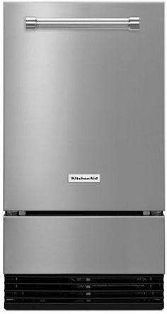 """KUID308ESS KitchenAid 18"""" Automatic Icemaker with Clear Ice Technology - Stainless Steel"""