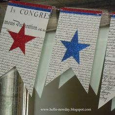 Hello, New Day: 4th of July Banner Tutorial with Printable