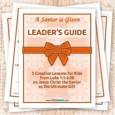 A Savior is Given: Leader's Guide • BibleBaton Bible Study Guide, Bible Study Tools, Study Tips, Bible Lessons For Kids, Bible For Kids, Scripture Memorization, Christmas Bible, Object Lessons, Vacation Bible School