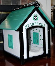 Dog house..haha that's cute