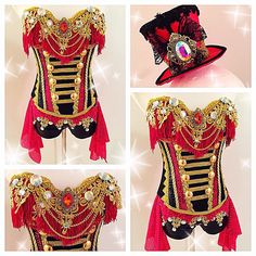 Ringmaster Corset and Other Galleries — Electric Laundry Burlesque Costumes, Dance Costumes, Nerd Costumes, Vampire Costumes, Steampunk Circus, Steampunk Diy, Steampunk Necklace, Vintage Circus Costume, Rave Outfits