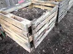 build a compost bin from pallets.  i need a compost bin and we have pallets.  win, win. :)
