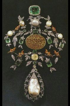 Antique. Ottoman. Used by Sultan Suleyman. Diamond, emerald, ruby  pearl.
