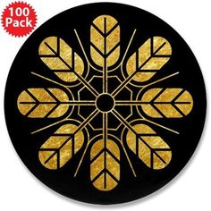 "Inoue clan kamon in gold 3.5"" Button (100 pack) on CafePress.com"