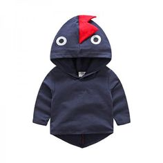 Stylish and Cool Dinosaurs Hooded Long-sleeve High-low Pullover for Babies and Toddlers