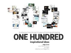 one-hundred-inspirational-ideas by Helge Tennø via Slideshare