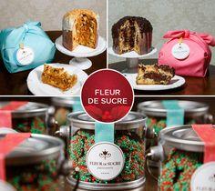 Doces de Natal e panetones da Fleur de Sucre. Clique na foto para saber o contato para encomendas.