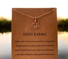 Excited to share this item from my shop: Good Karma Lotus Necklace Lotus Necklace, Arrow Necklace, Make A Wish, How To Make, Karma, Love You, Positivity, Necklaces, Etsy Shop