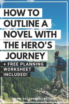 Want to learn how to write a book that works? Learn how to outline your novel with the Hero's Journey in this post. Plot Outline, Writing Outline, Writing Words, Fiction Writing, Writing Images, Creative Writing Tips, Book Writing Tips, Writing Resources, Writing Help