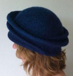 Etsy の Hand Felted Norwegian C1 and Merino Wool Hat by VendaFelt