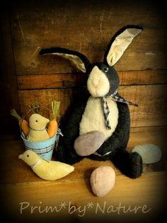 Primitive Black and White Rabbit