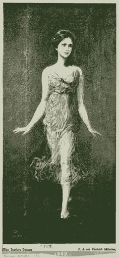 Isadora Duncan  She was so free in fashion...