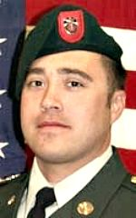 Army 1SG Gary J. Vasquez, 33, of Round Lake, Illinois. Died September 29, 2008, serving during Operation Enduring Freedom Assigned to 1st Battalion, 7th Special Forces Group, Fort Bragg, North Carolina. Died of injuries sustained when an improvised explosive device detonated near his vehicle during comat operations in Yakhchal, Helmand Province, Afghanistan.