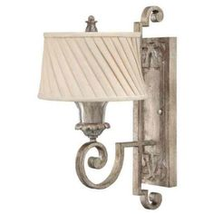 Buy the Fredrick Ramond Silver Leaf Direct. Shop for the Fredrick Ramond Silver Leaf 1 Light Wall Sconce from the Kingsley collection and save. Sconces, Light, Wall Lamp, Traditional Wall Lighting, Wall Sconce Lighting, Wall Lights, Lamp, Wall Candles, Silver Leaf