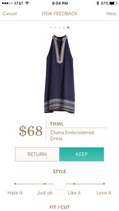 Dear Stitch Fix Stylist - the collar and exposed shoulders on this THML Chana Dress make me wish summer was here already.