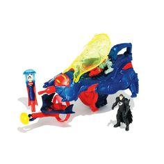 DC Comics Superman Man of Steel Flight Speeders Deluxe Strike Ship Gift Pack by Mattel, Multicolor
